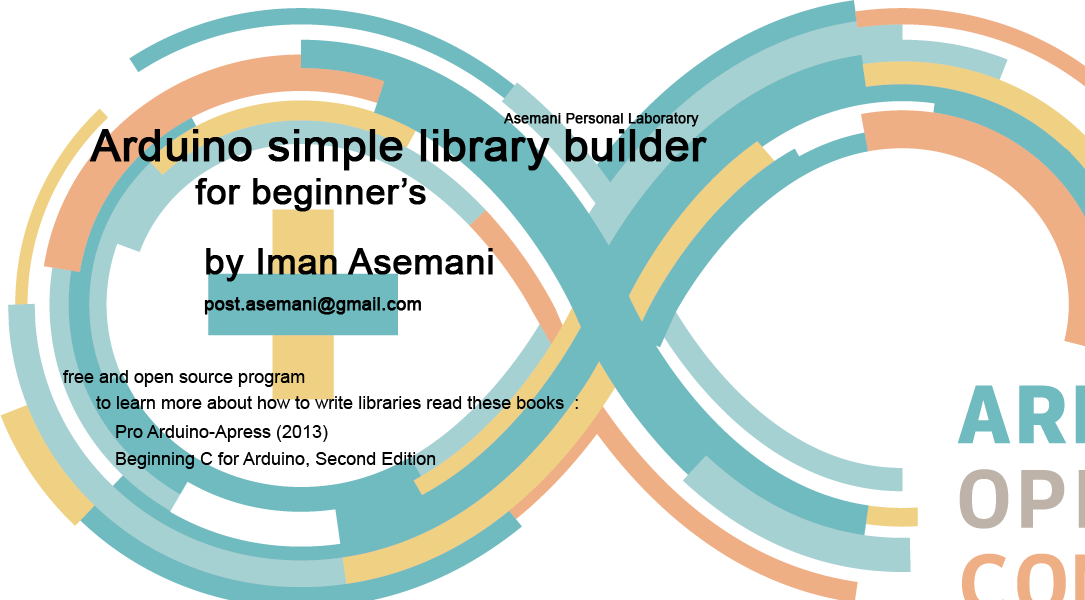 Arduino simple library builder for beginners