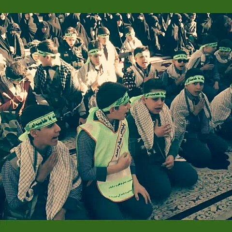 تجدید میثاق بسیج امیدان دبستان پروفسور حسابی2 شاهین شهر با شهید حججی در گلستان شهدای نجف آباد