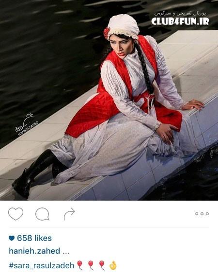 سارا رسولزاده در نمایی از تئاتر جدیدش