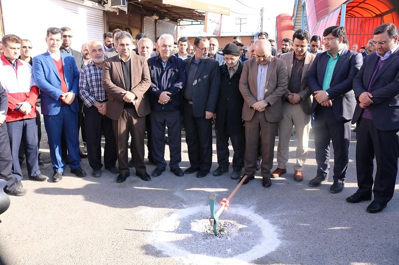 کلنگ زنی پروژه زیرگذر مسجد رسول