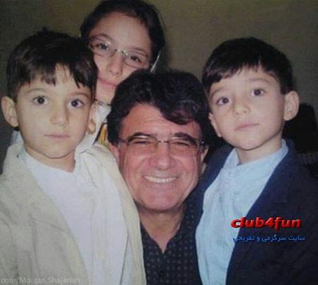 عکس زیبای استاد شجریان در کنار نوه هایش