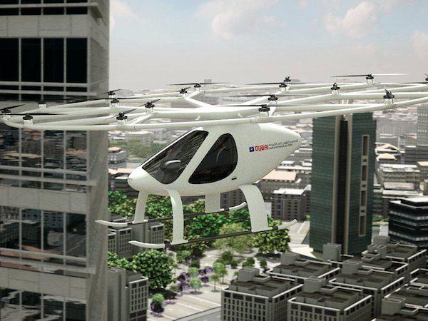 آسمان دبی به زودی مجهز به تاکسی های پرنده خواهد شد!