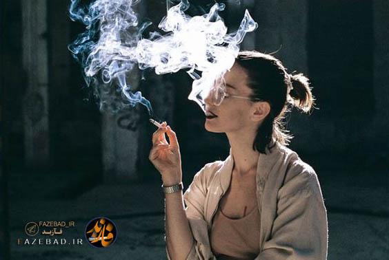 سیگار کشیدن دختر فازسنگین - سیگار کشیدن دخترغمگین - عکس سیگار کشیدن دختر