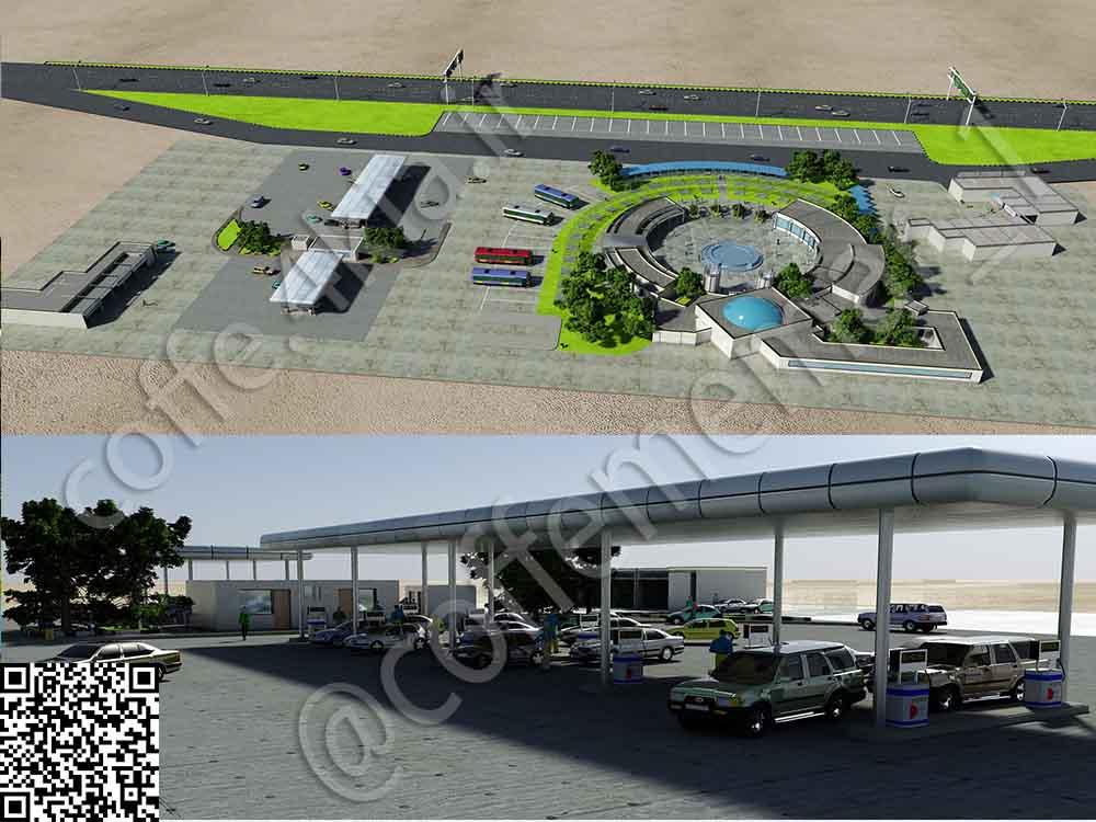 نمونه تصاویر زیر مربوط به پروژه معماری مجتمع تجاری و تفریحی بین راهی دو