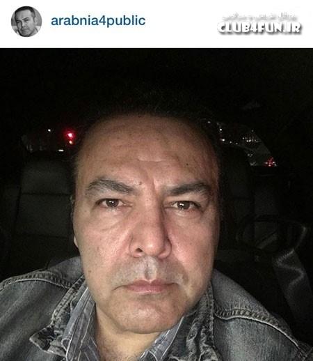 سلفی فریبرز عرب نیا در اینستاگرام