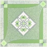 طرح نقشینه سبز - کاشی مجتمع - بازرگانی امین یزد