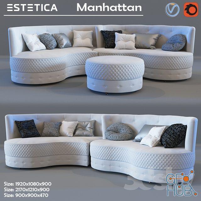 svz 1552046593 estetica manhattan sofa - مجموعه مدل سه بعدی تخت و مبلمان - 001