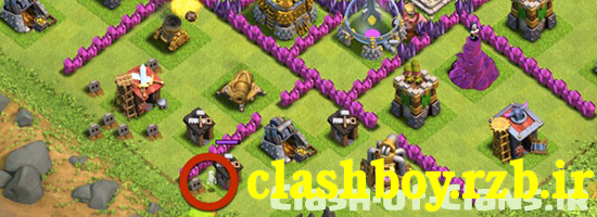 clash-of-clans-tricking-the-mortar-with-bait2