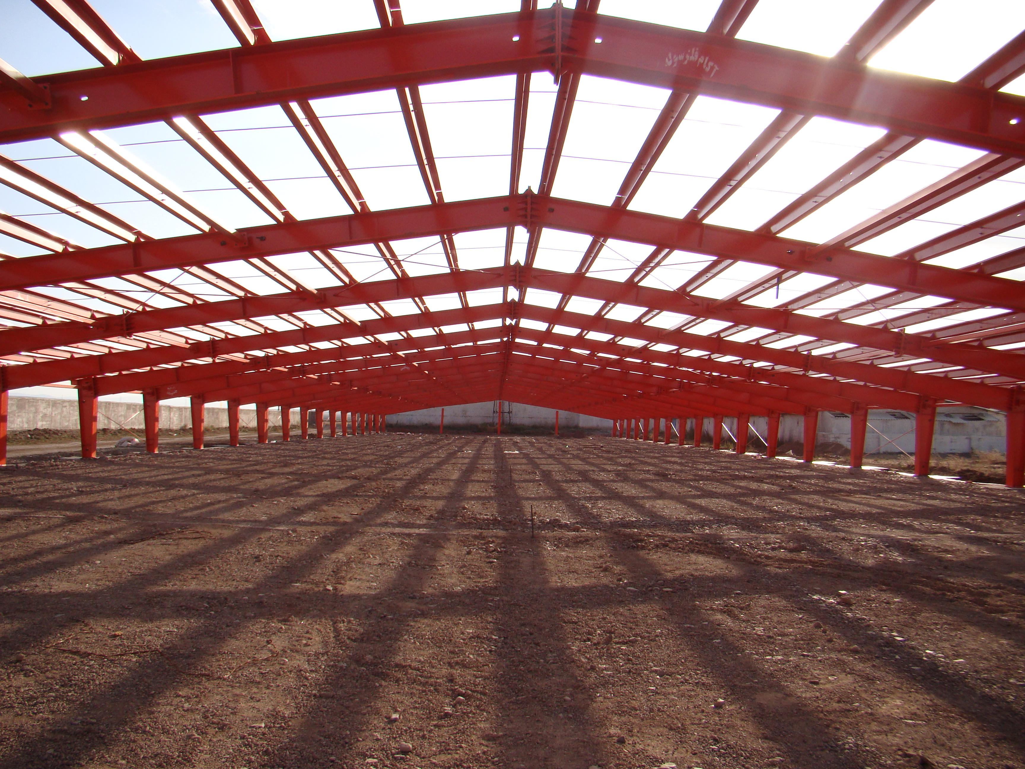 عرشه فولادی | خصوصیات سازه فلزی - عرشه فولادی... سوله، ساخت سوله، اسکلت فلزی، سازه فلزی، سوله سازی|آکام فلز ...