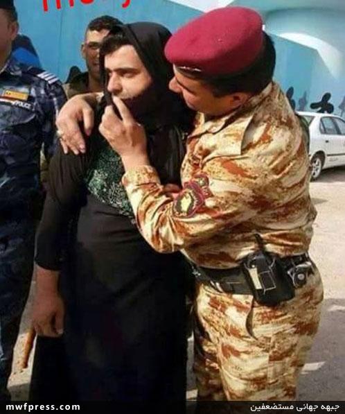 بازداشت یک داعشی با لباس زنانه ، داعش ، اخبار داعش