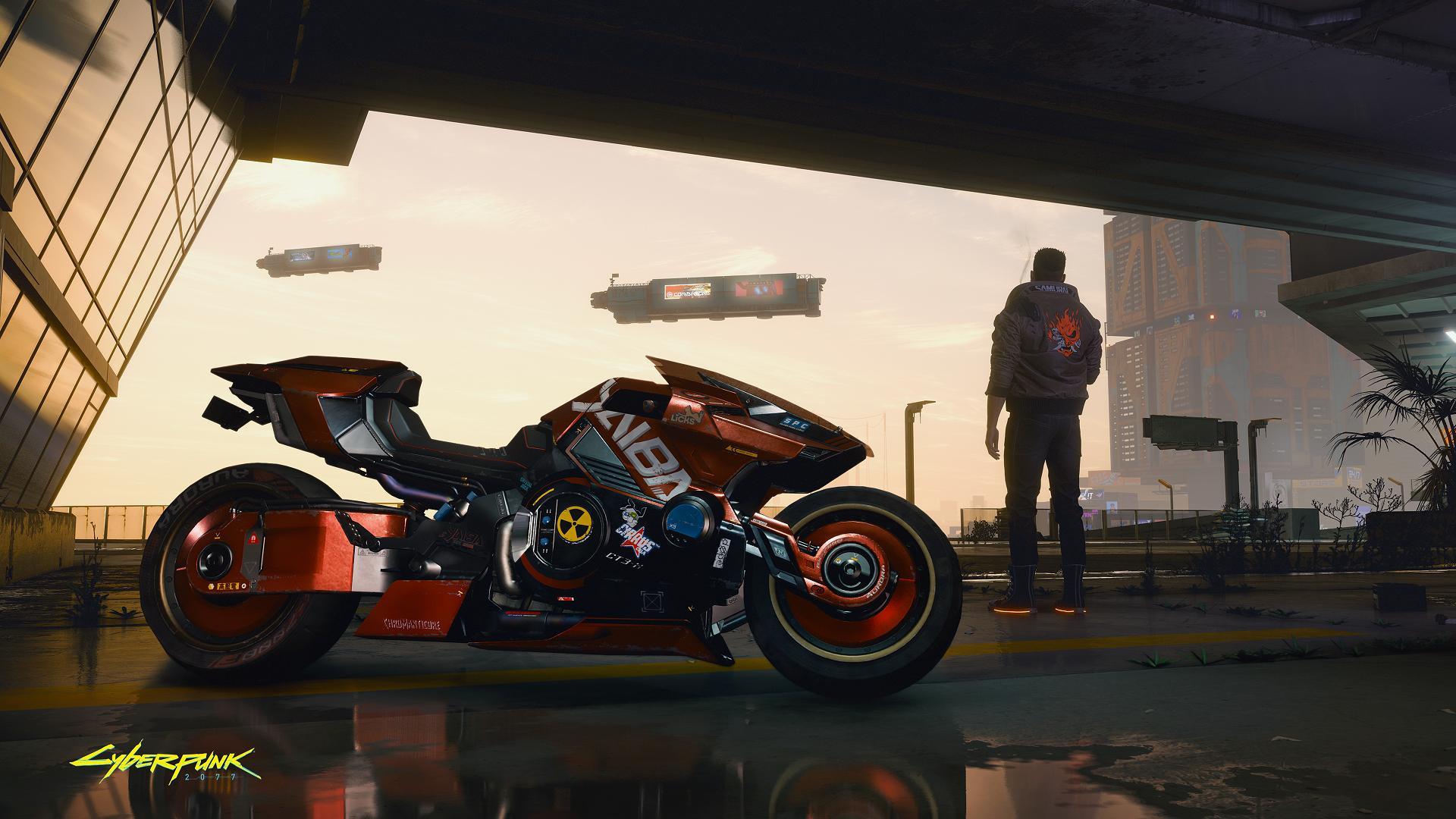 تصویر جدید بازی Cyberpunk 2077 موتور Yaiba Kusanagi را نشان میدهد