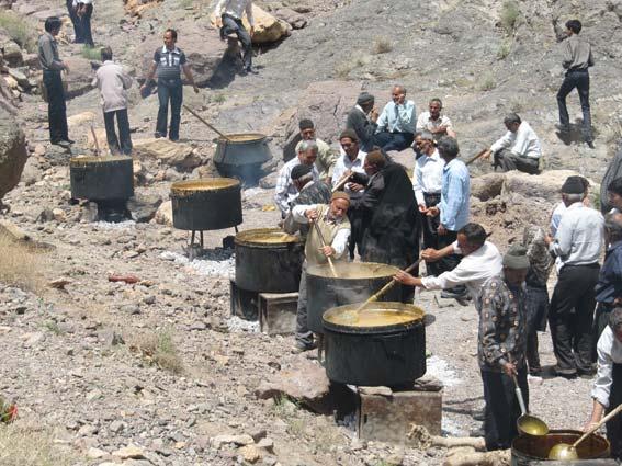 ائین سنتی بلغور پزان روستای سنو