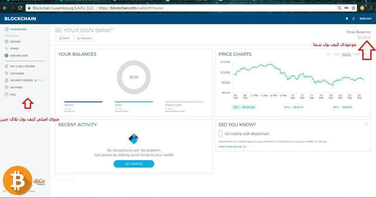 راهنمای ساخت کیف پول بیت کوین رایگان
