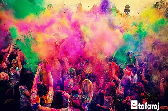 فستیوال رنگ ها یا جشن هولی در هند