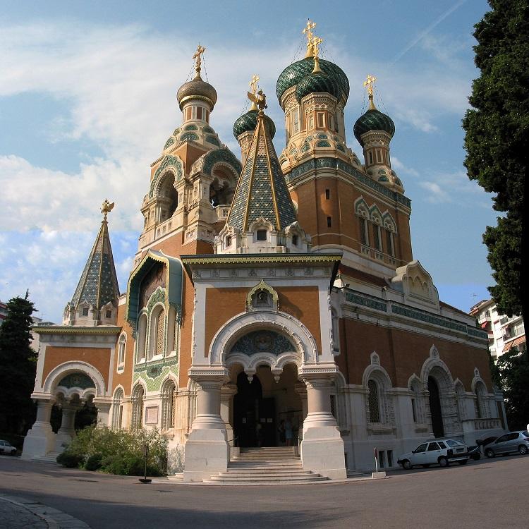 کلیسای جامع ارتدکس روسیه سنت نیکلاس واقع در شهر نیس فرانسه