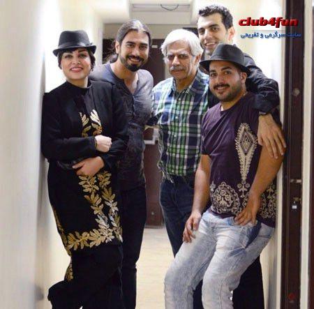حبیب دهقان نسب و اعضای تئاتر جدیدشان در پشت صحنه