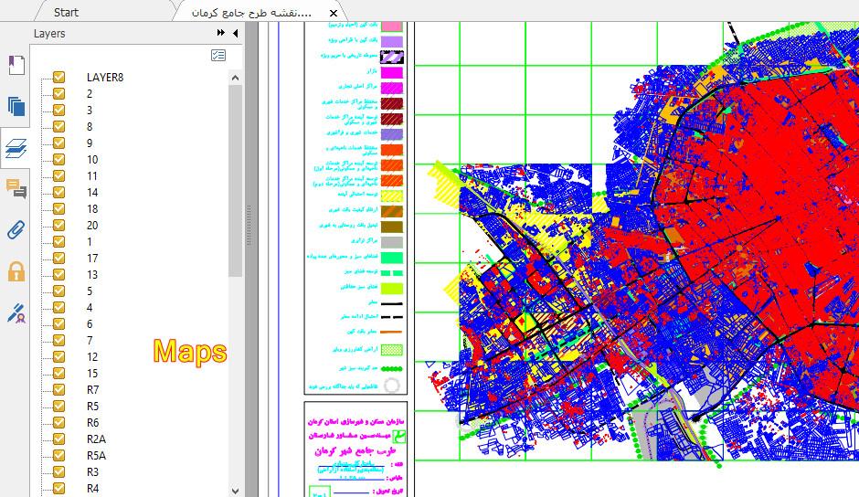 Image result for نقشه طرح جامع کرمان