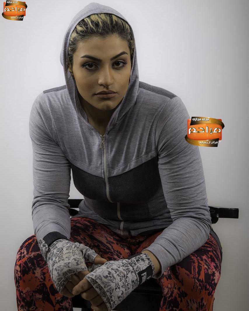 مهسا خادم  تنها خانم بوکسور ایرانی!!!!!!!