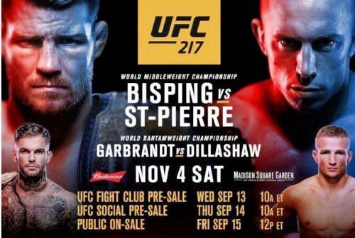 دانلود یو اف سی 217 | UFC 217: Bisping vs. St-Pierre
