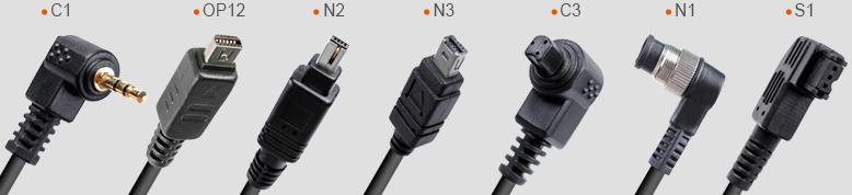 انواع کابل برای اتصال ریموت گودکس به دوربین