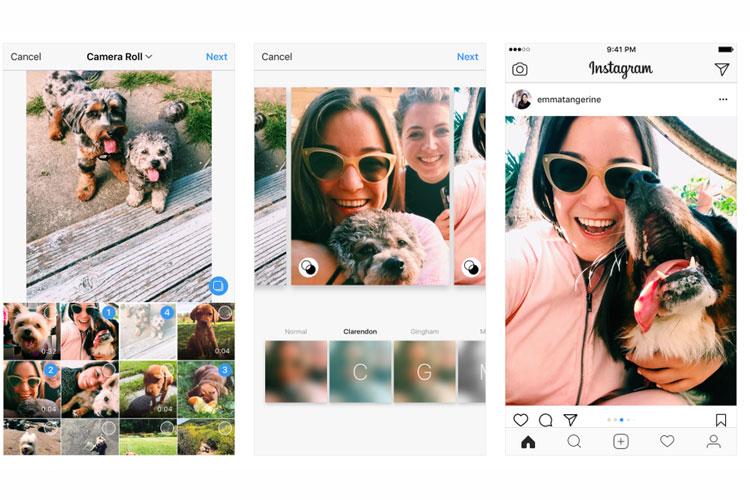 اینستاگرام امکان ارسال آلبوم تصاویر عریض را فعال کرد