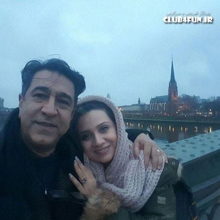 فلورا سام و همسر هنرمندش مجید اوجی