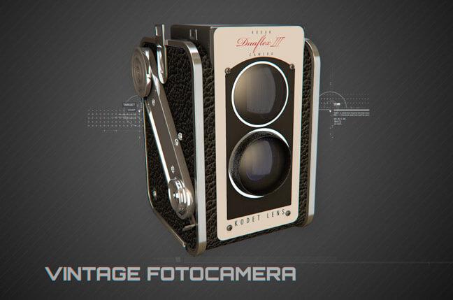 us6h vintage fotocamera - مجموعه مدل سه بعدی تجهیزات الکترونیک و تکنولوژی C4D