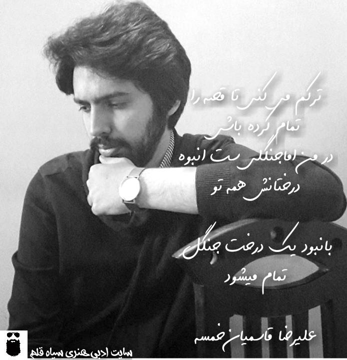 علیرضا قاسمیان خمسه.سیاه قلم.1396.2017