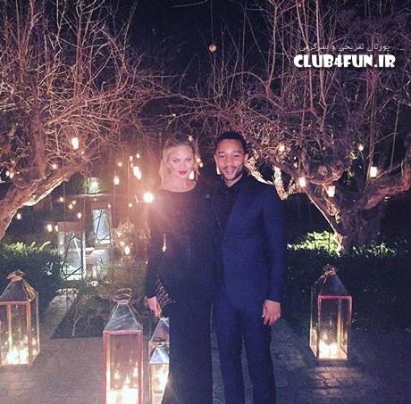 کریسی تیجن و جان لجند در مهمانی های کریسمس