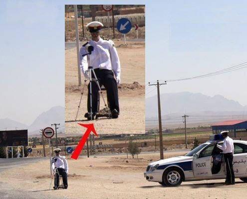 حتی پلیس هم خلاقه . .  . والا بوخودا ؟!