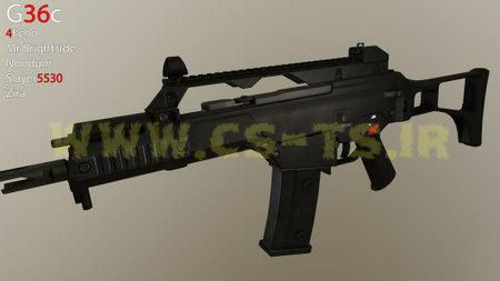 دانلود اسکین اسلحه ای G36c برای کانتر سورس