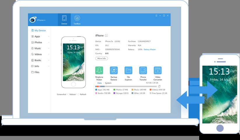 نرم افزار مدیریت مدیریت آیفون، آیپاد و آیپد iTools 2014 v2.3.3 – مک
