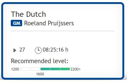 شروع بازی دفاع هلندی برای سیاه the Dutch