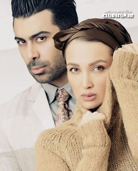 عکس آتلیه ای روناک یونسی و همسرش