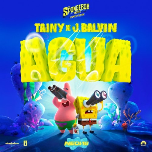 "دانلود آهنگ Tainy & J Balvin - Agua (Music From ""Sponge On The Run"" Movie)"