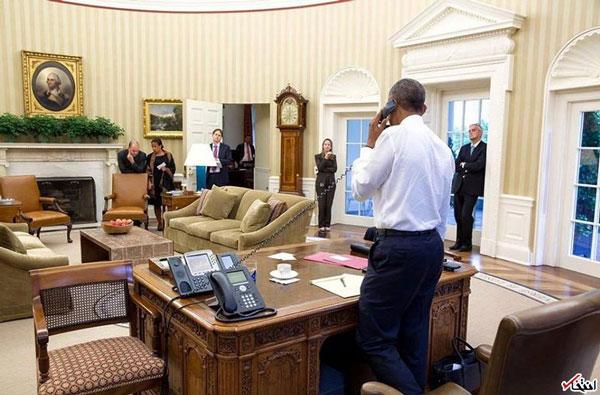 تصاویری از اوباما هنگام دریافت خبر توافق