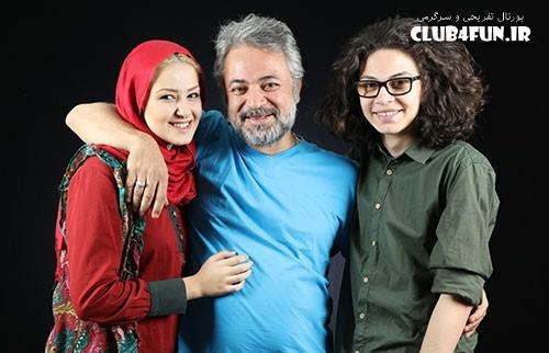 عکس آتلیه ای از حسن جوهرچی در کنار فرزندانش