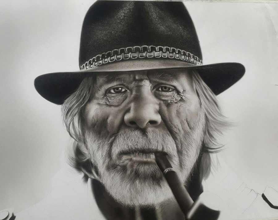سفارش نقاشی سیاه قلم