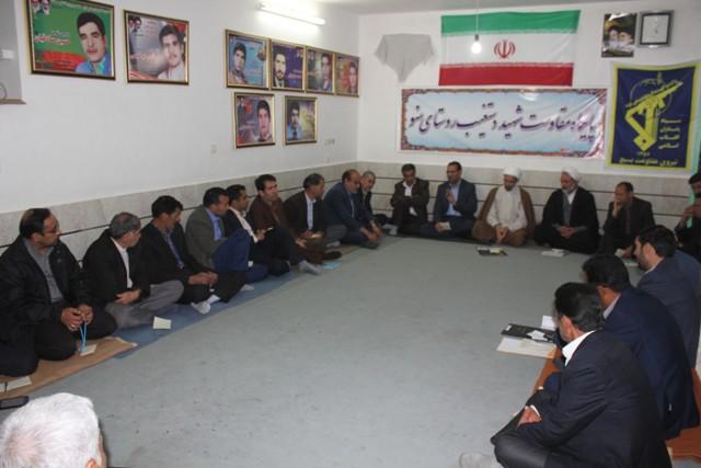 برگزاری جلسه هماهنگی دومین یادواره 20 شهید روستای سنو و حومه