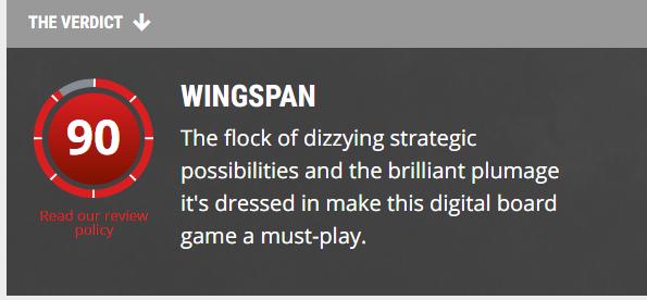 WINGSPAN REVIEW