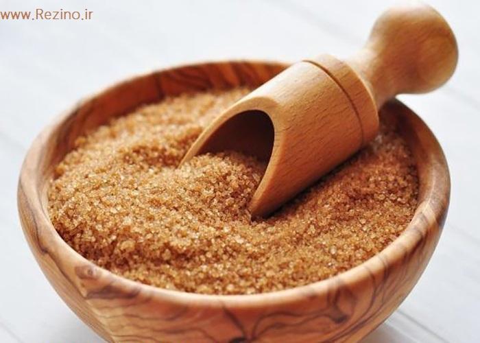 فروش شکر قهوه ای خرید شکر قهوه ای رژیمی در فروشگاه اینترنتی رزینو مواد غذایی کم کالری