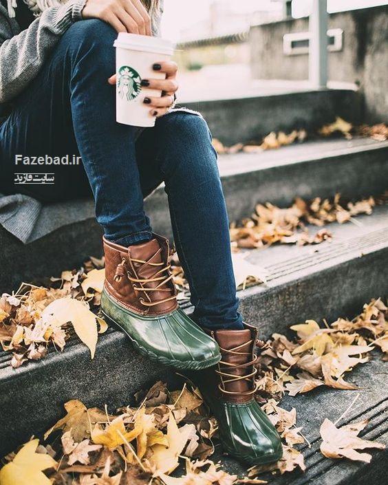 عکس از پا دختر فصل پاییز |پروفایل دخترونه از پا روی برگ | عکس پروفایل دخترونه در پاییز