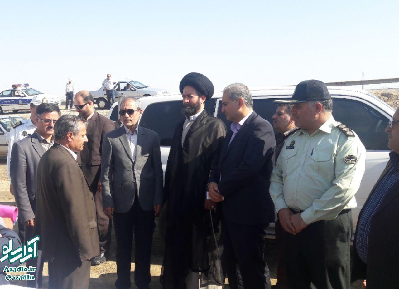 حضور امام جمعه و استاندار اردبیل در شهرستان گرمی +تصاویر