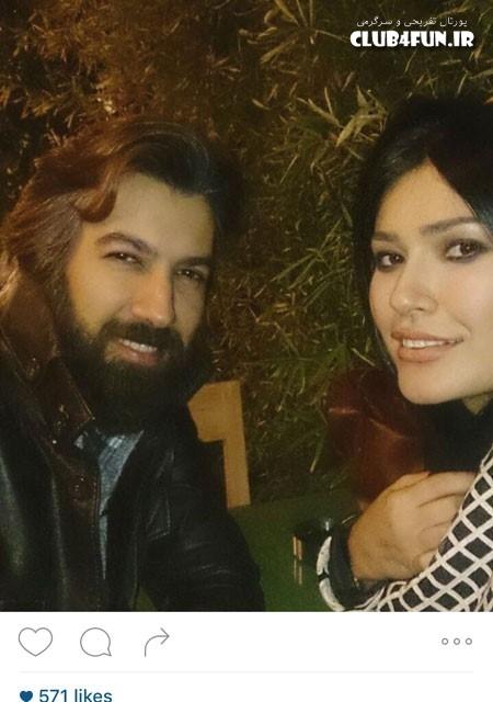 سلفی شیوا طاهری با سعید مدرس