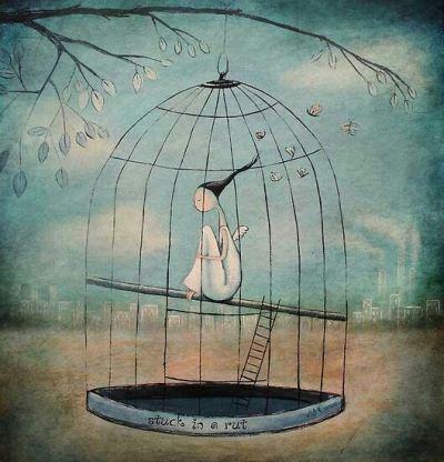آزاد شدن پرنده از قفس