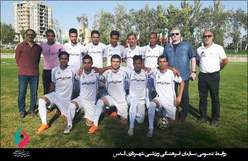 تیم آرارات مغلوب تیم فوتبال شهرداری قدس شد