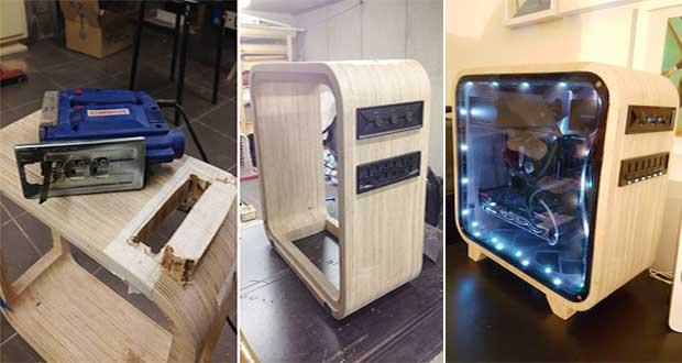 ساخت خلاقانهی کامپیوتر چوبی به روایت تصویر !