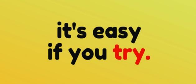آسان است اگر شما سعی می کنید