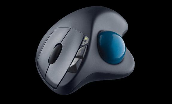 نمونه ای از یک ماوس Trackball
