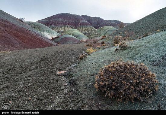 کوه های رنگی زیبا در آذربایجان +عکس